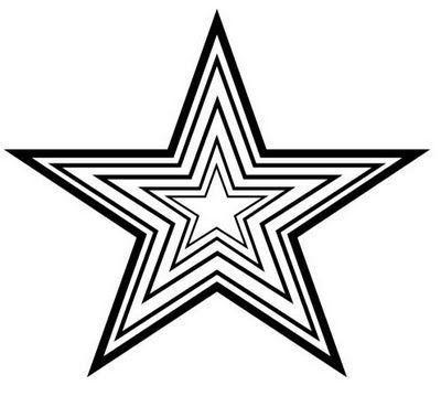 estrela preto e branco desenhos para colorir