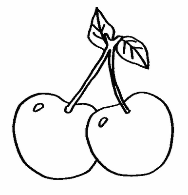 Cereja Frutas Desenhos Para Colorir