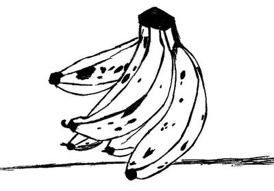 Banana Frutas Desenhos Para Colorir