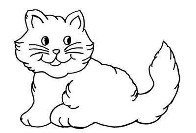 gato peludo desenhos para colorir
