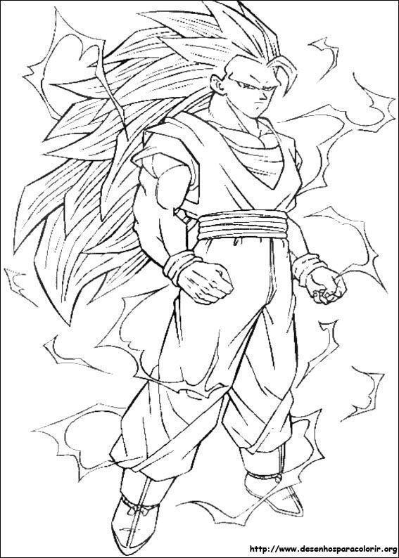 Desenho Do Goku Super Saiyan 3 Desenhos Para Colorir