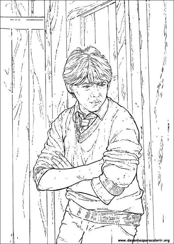 Desenhos do harry potter desenhos para colorir - Rone harry potter ...