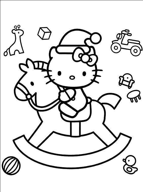 Hello Kitty Com Presentes De Natal Desenhos Para Colorir