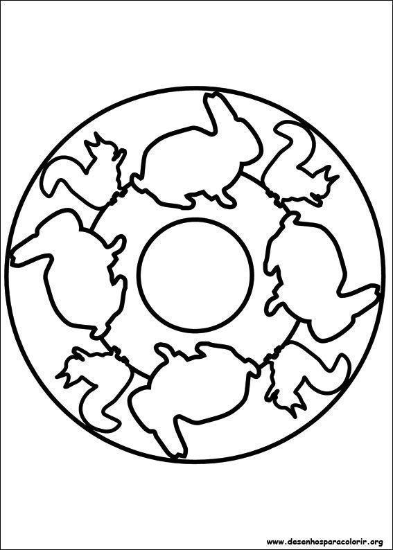 Mandala com animais desenhos para colorir for Dibujos para mosaiquismo