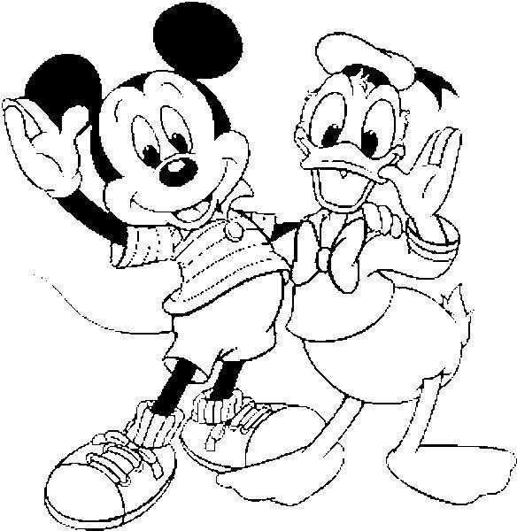 Mickey E Pato Donald Desenhos Para Colorir