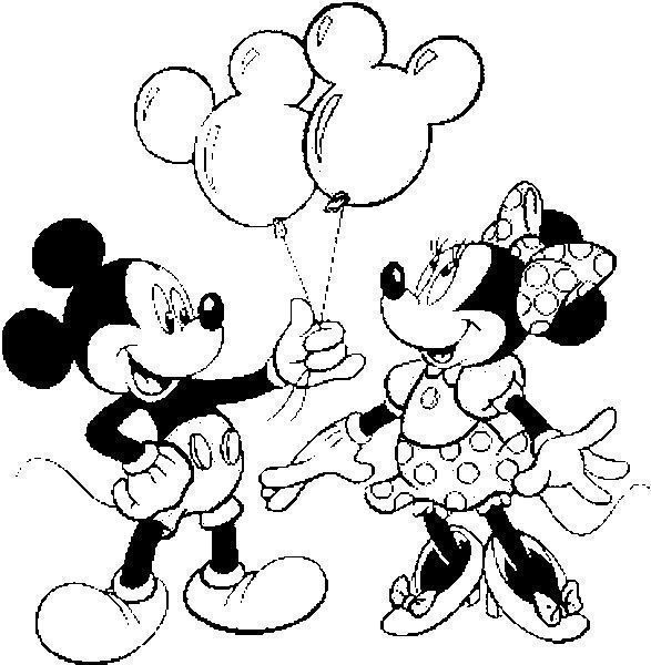 Mickey Dando Presente A Minie Desenhos Para Colorir