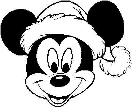 Mickey No Natal Desenhos Para Colorir