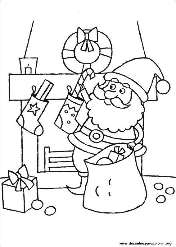 Kleurplaten Minions Kerst Papai Noel Pendurando Doces Desenhos Para Colorir