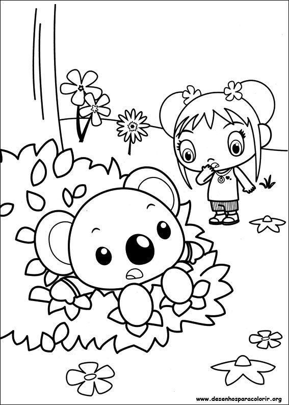 Kai Lan assustada Desenhos para