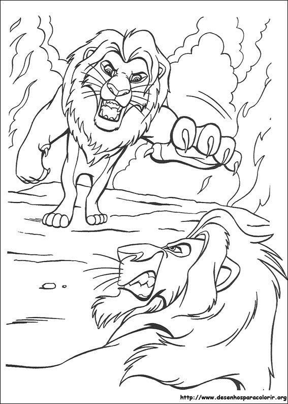 Simba Lutando Com Scar O Rei Leao Desenhos Para Colorir