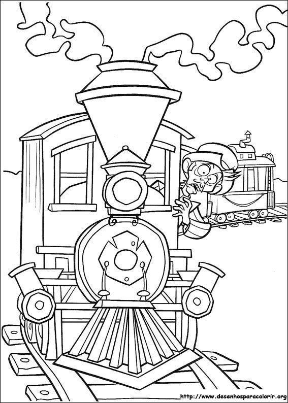 Trem Paraiso Da Barrafunda Desenhos Para Colorir