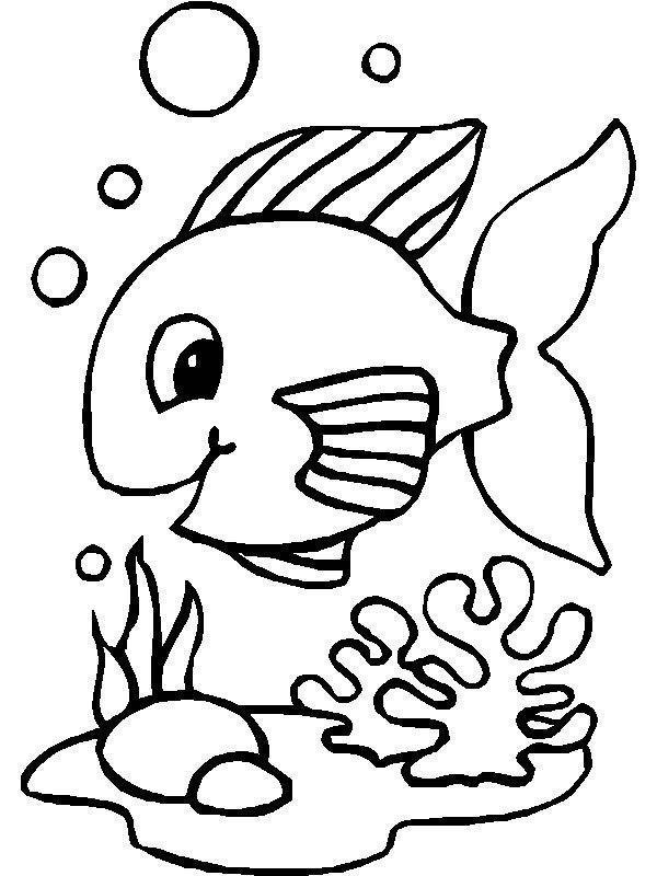 Peixe No Aquario Desenhos Para Colorir