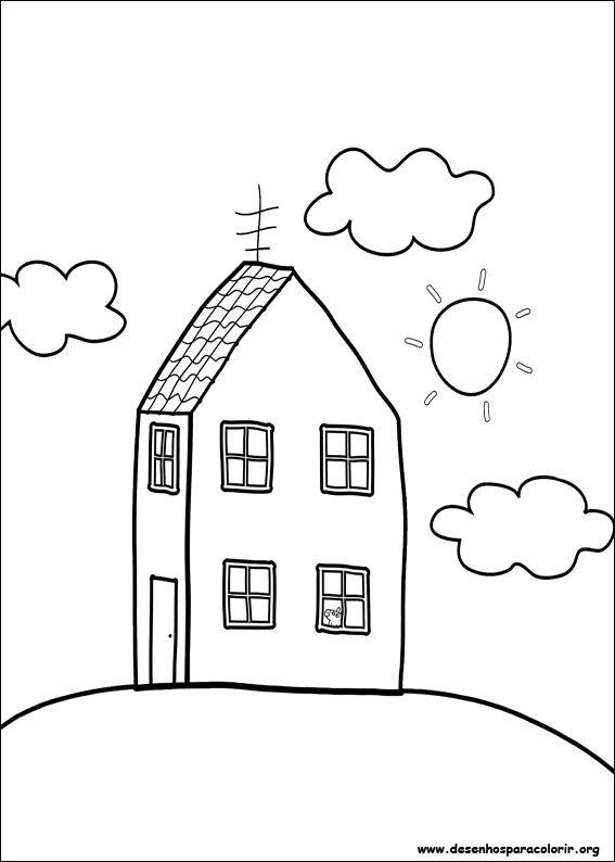 Casa Da Peppa Pig Desenhos Para Colorir