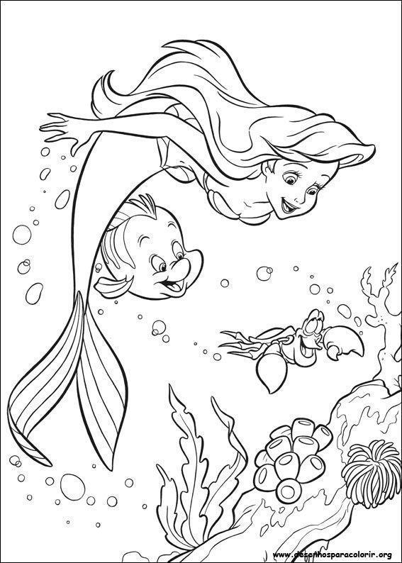 A Pequena Sereia 15 Desenhos Desenhos Para Colorir