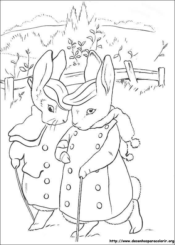 Conversando Peter Rabbit Desenhos Para Colorir
