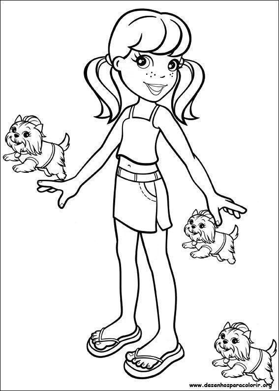 Polly Pocket e cachorrinhos Desenhos