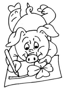 3 porquinhos em casa desenhos para colorir