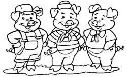 Casa De Tijolos 3 Porquinhos Desenhos Para Colorir