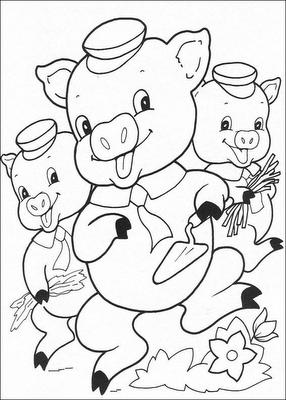Porquinhos3 Desenhos Para Colorir
