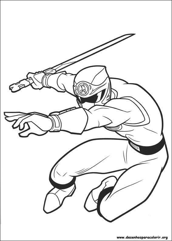 power rangers em combate desenhos para colorir
