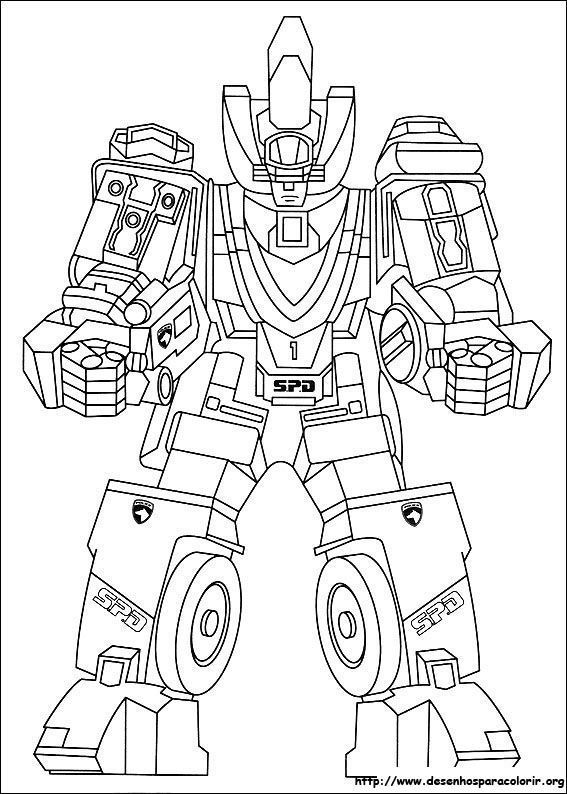 Free coloring pages of mega force power ranger for Power rangers samurai megazord coloring pages