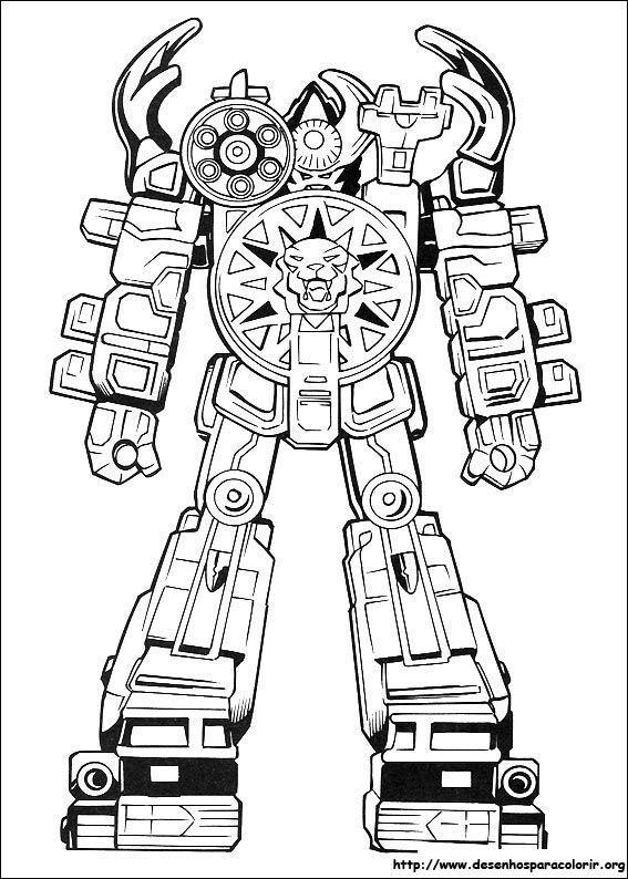 Power Rangers Robo Em Combate Desenhos Para Colorir