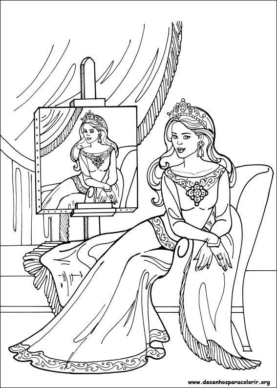 Rainha Desenhos para Colorir