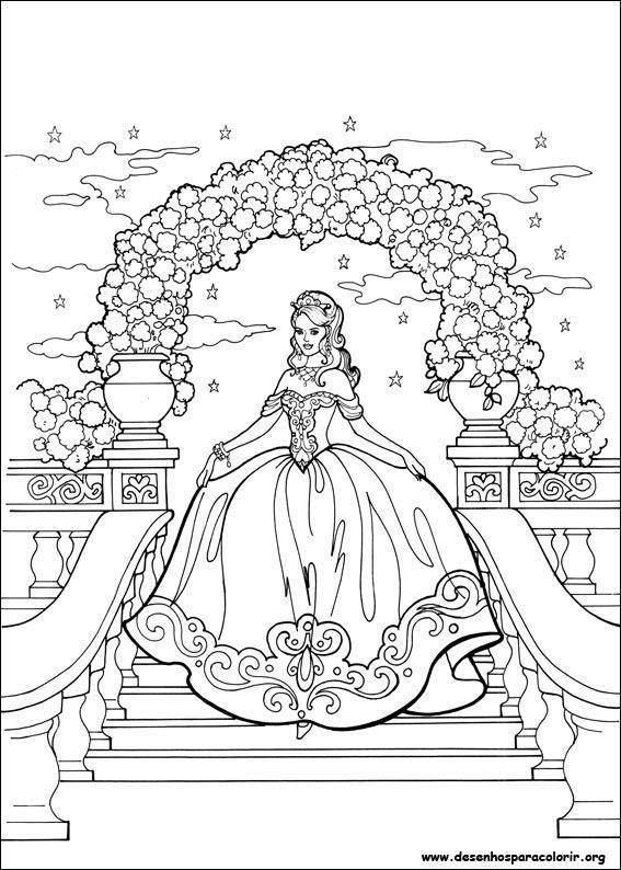 Princesa Leonora Linda Desenhos Para Colorir