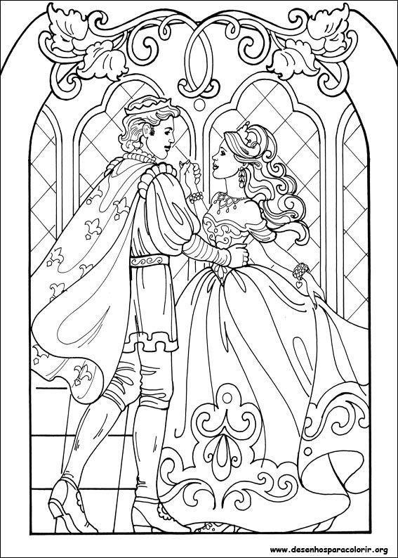 Princesa leonora dan ando com o pr ncipe desenhos para - Coloriage princesse halloween ...