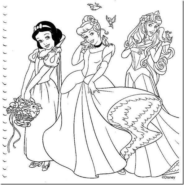 Desenho Das Princesas Da Disney Juntas Desenhos Para Colorir