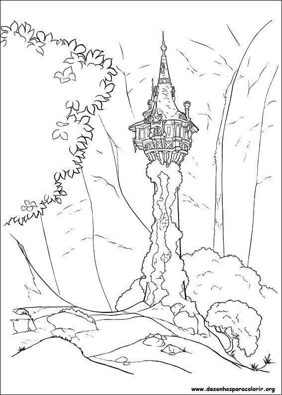 Torre Da Rapunzel Desenhos Para Colorir