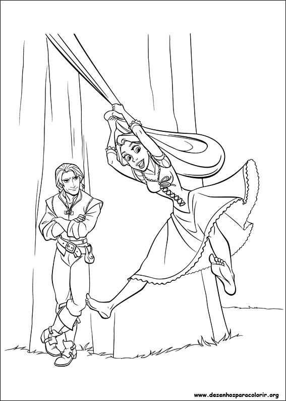 Rapunzel E O Principe Desenhos Para Colorir