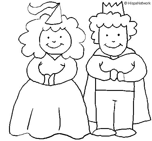 Rei E Rainha Desenhos Para Colorir
