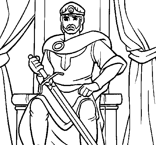 Rei Arthur Desenhos Para Colorir