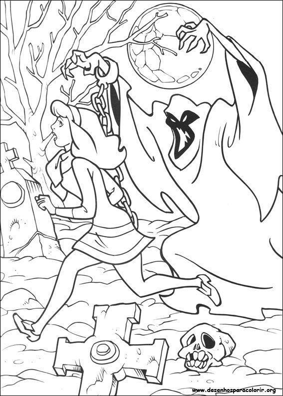Scooby Doo Susto Desenhos Para Colorir