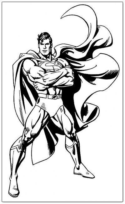 Super Man Preto Branco Desenhos Para Colorir
