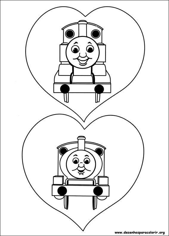 Thomas Apaixonado Desenhos Para Colorir