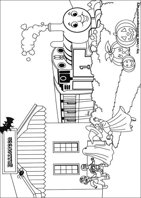 Chuggington Trein Kleurplaat Thomas Cumprimentando Amigos Desenhos Para Colorir