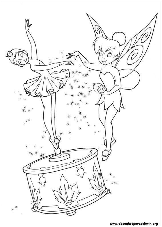 Fadas Dancando Tinker Bell Desenhos Para Colorir