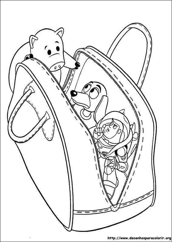 Escondidos Na Bolsa Toy Story Desenhos Para Colorir