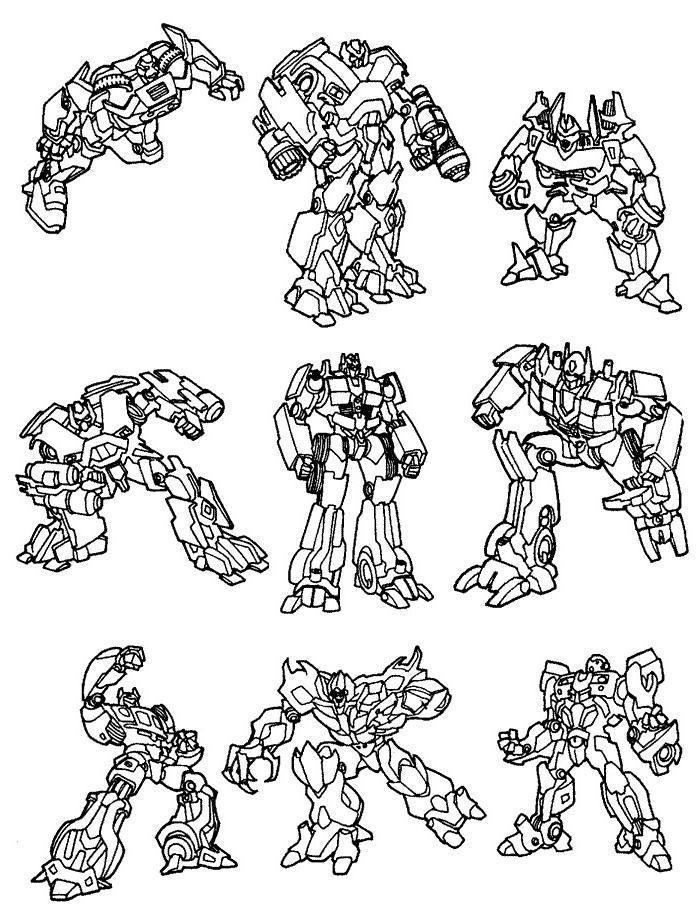 Todos Autobots Desenhos Para Colorir