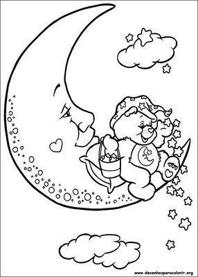 Ursinhos carinhosos na lua