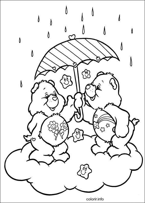 ursinhos carinhosos na chuva  u2013 desenhos para colorir
