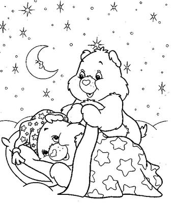 ursinho carinhoso durmindo desenhos para colorir