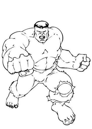 hulk lutando desenhos para colorir