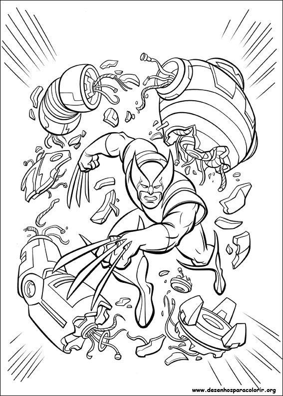 Wolverine em combate desenhos para colorir - Wolverine dessin ...